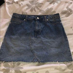 Forever 21 razor cut jean skirt